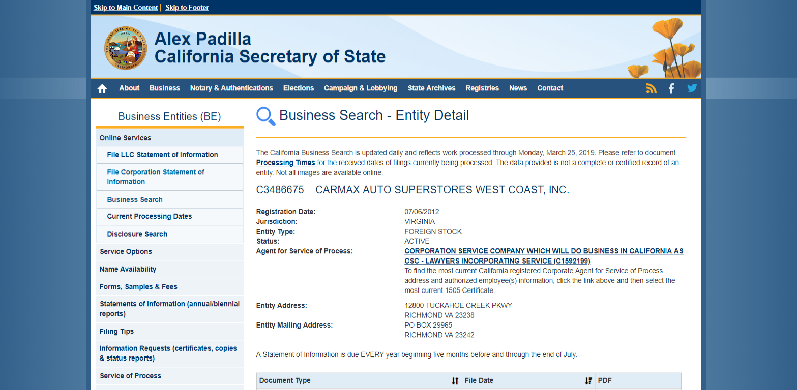 carmax subpoena